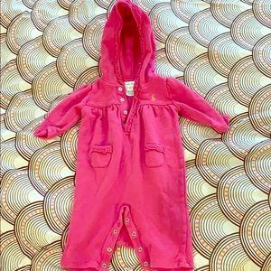 Ralph Lauren hooded romper Size 3m